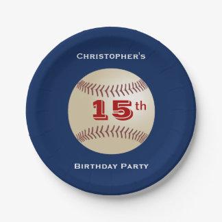 Baseball-PapierTeller, 15. Geburtstags-Party Pappteller