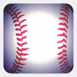 Baseball Quadrat-Aufkleber
