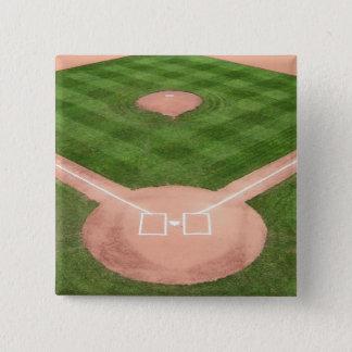 Baseball Quadratischer Button 5,1 Cm