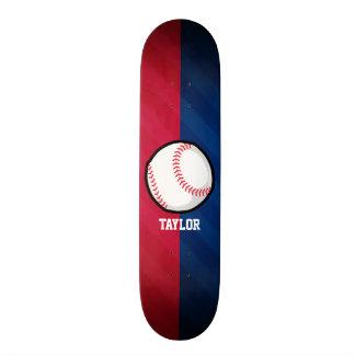 Baseball; Rot, weiß und Blau Individuelles Skateboard