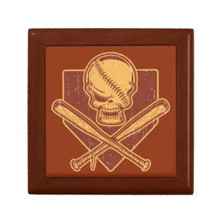 Baseball-Schädel-u. Kreuz-Schläger Schmuckschachtel