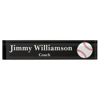Baseball-Schreibtisch-Namensschild