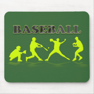 Baseball-Silhouetten Mousepad