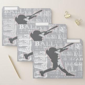 Baseball-Spieler-Datei-Ordner-Set Papiermappe