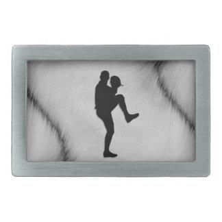 Baseball-Spieler-WerferWindup Rechteckige Gürtelschnalle