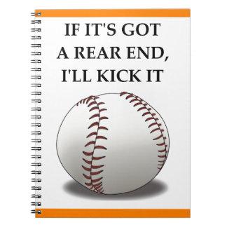 Baseball Spiral Notizblock