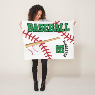Baseball-Sport im Grün Fleecedecke