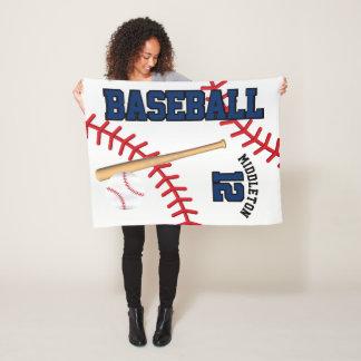 Baseball-Sport in dunkelblauem Fleecedecke