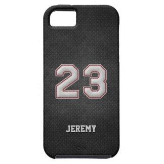 Baseball-Stiche der Nr.-23 mit schwarzem iPhone 5 Schutzhülle