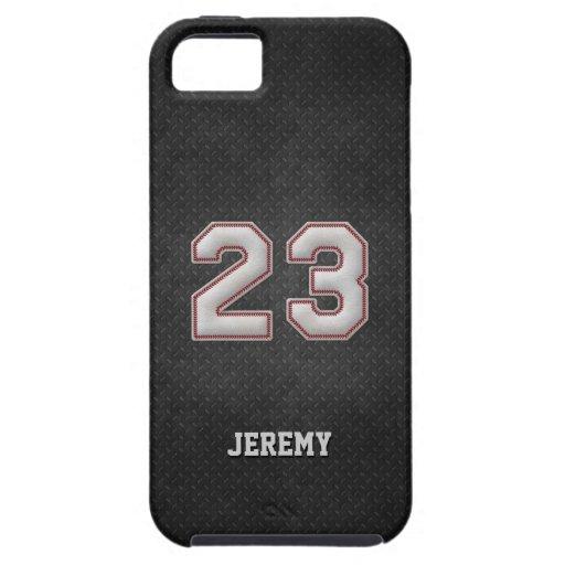Baseball-Stiche der Nr.-23 mit schwarzem Metallbli iPhone 5 Cover