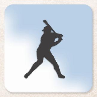 Baseball-Teig oben Rechteckiger Pappuntersetzer