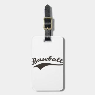 Baseball-Text Gepäckanhänger