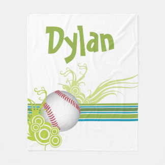 Baseball trägt Ball-Spiel-personalisierten Namen Fleecedecke