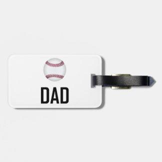 Baseball trägt Vati zur Schau Kofferanhänger