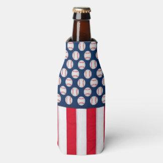 Baseball u. Flasche der amerikanischen Flagge Flaschenkühler