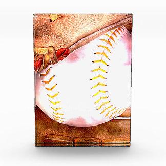 Baseball u. Handschuh-Schmutz-Art Acryl Auszeichnung
