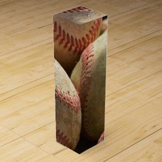 Baseball und Handschuh Weinbox