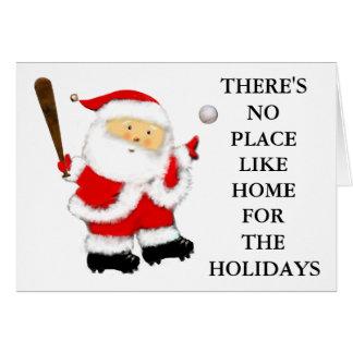 Baseball-Weihnachten Grußkarte