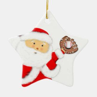 Baseball-Weihnachten Keramik Ornament