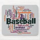 Baseball-Wort-Wolke Mousepad