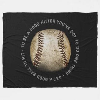Baseball zitiert | Sport-coole Geschenke Fleecedecke