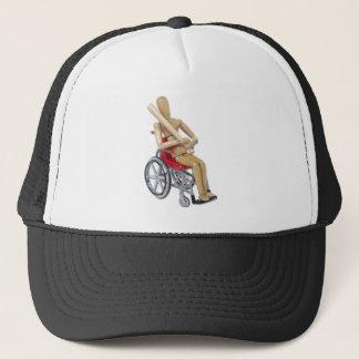 BaseballBatWheelchair Truckerkappe