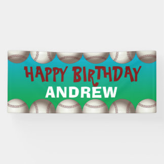 Baseballfahne für Geburtstag oder irgendeine Banner