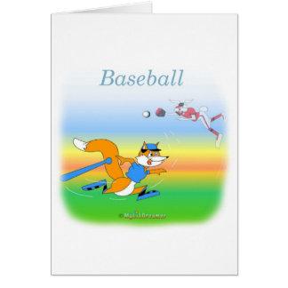 Baseballgrußkarte Karte