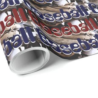 Baseballhandschuh-und Ball-Grafiken Geschenkpapier
