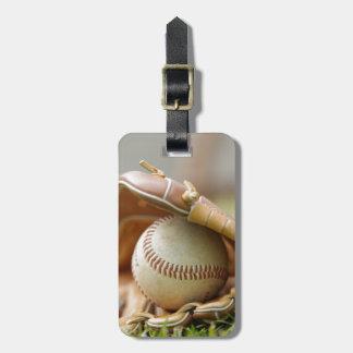 Baseballhandschuh und Ball Koffer Anhänger