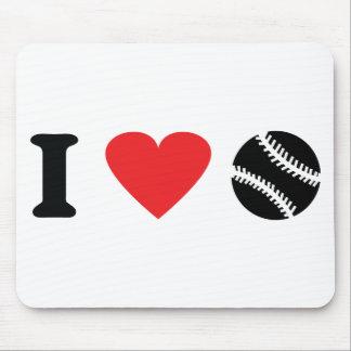 Baseballikone der Liebe I Mousepads