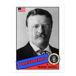 Baseballkarte Theodore Teddy Roosevelt Postkarte