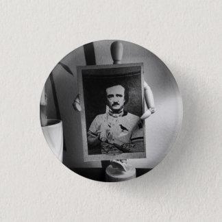 Baseballkarte von Edgar Allan Poe-Knopf Runder Button 2,5 Cm