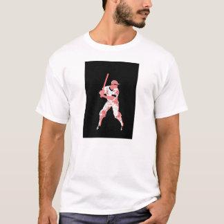 Baseballkunst: Erwarten der Neigung T-Shirt