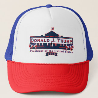 Baseballmütze-Hut Donald Trump roter weißer blauer Truckerkappe