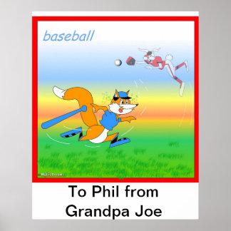 Baseballplakat für Kinder Posterdruck