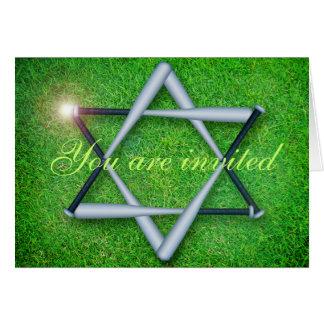 Baseballschläger Bar/Schläger Mitzvah Einladung