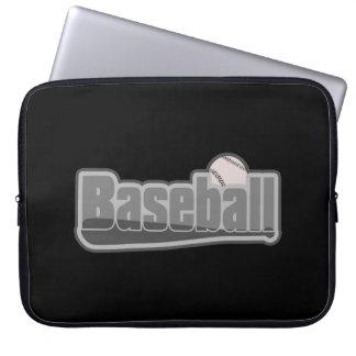 Baseballschläger-und Ball-Grau Laptopschutzhülle