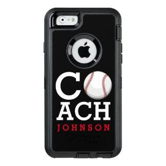 Baseballtrainer-individueller Name OtterBox iPhone 6/6s Hülle