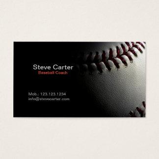 Baseballtrainer-oder Spieler-Fitness-Sport-Karte Visitenkarte
