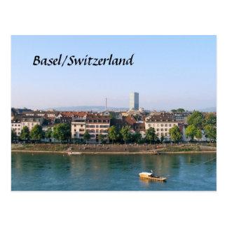 Basel/die Schweiz - Postkarte
