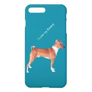 Basenji auf aquamarinem, iPhone 7 Plusfall iPhone 8 Plus/7 Plus Hülle