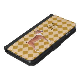 Basenji auf Raute 6/6s iPhone 6/6s Plus Geldbeutel Hülle