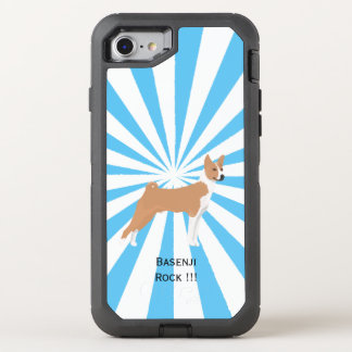 Basenji auf weißer Sternexplosion OtterBox Defender iPhone 8/7 Hülle
