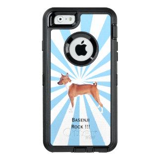 Basenji auf weißer Sternexplosion OtterBox iPhone 6/6s Hülle