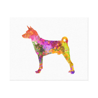 Basenji in Watercolor 2 Leinwanddruck