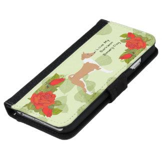 Basenji mit Roten Rosen 6/6s iPhone 6/6s Geldbeutel Hülle