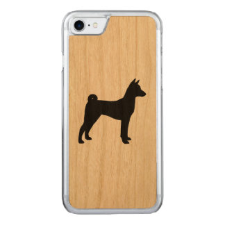 Basenji Silhouette Carved iPhone 8/7 Hülle