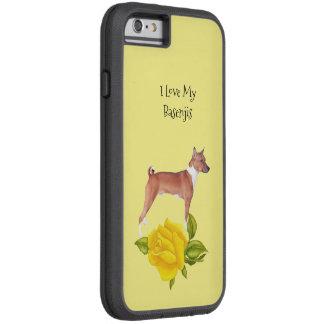 Basenji und gelbe Rosen Tough Xtreme iPhone 6 Hülle