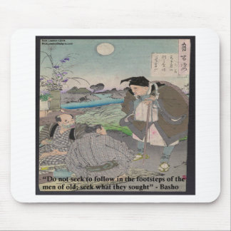 Basho u. berühmtes Zitat Mousepad